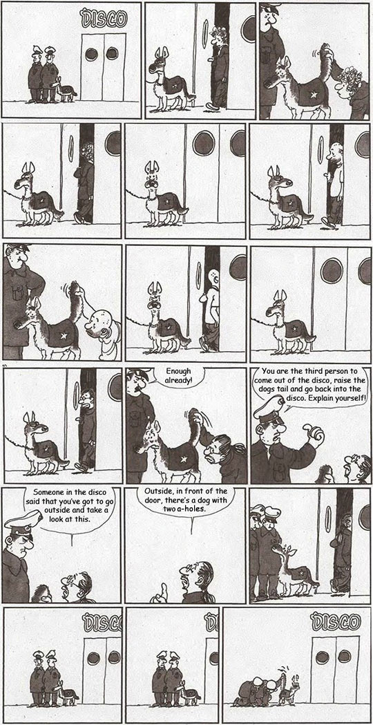 funny-cartoon-police-dog-disco-joke