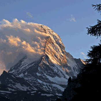 The Matterhorn before dusk
