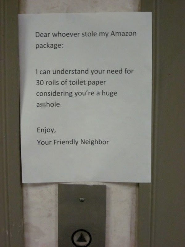 Dear-package-thief