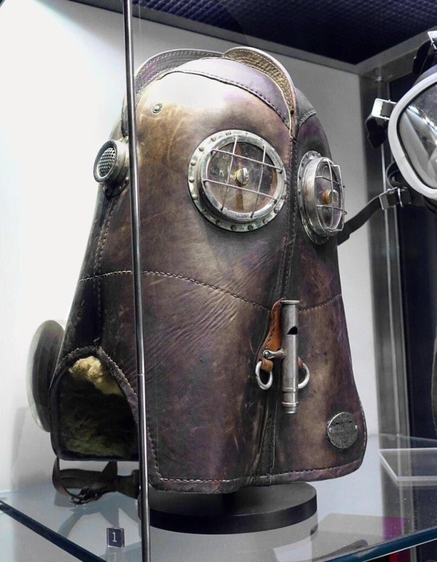A helmet used by firefighters in 1880.