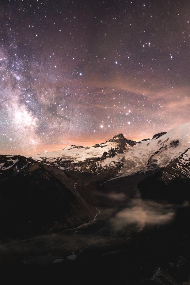 Mt Rainier - Milky Way