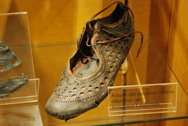 Roman shoe found in a well, Saalburg, 2000-years-old.