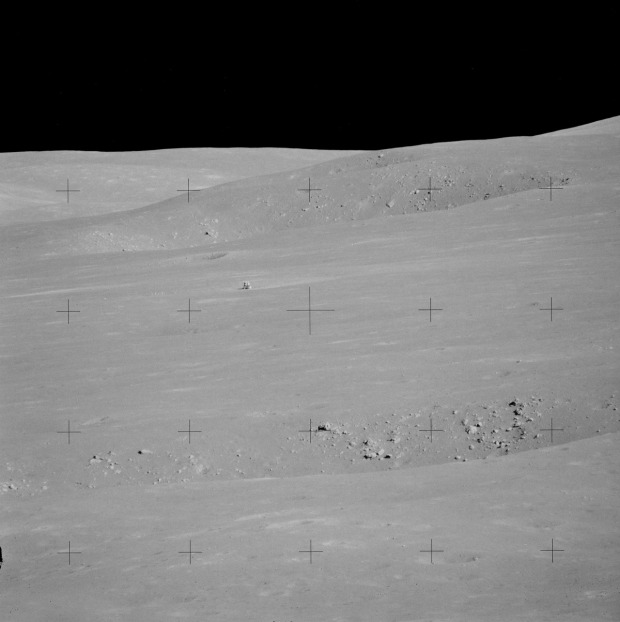 View of the Apollo 15 lunar lander from the Apennine front