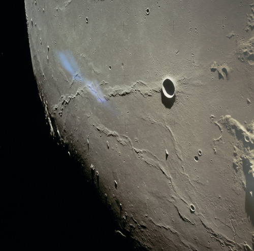 Moon as seen from lunar orbit during the Apollo 15 mission, August 2, 1971