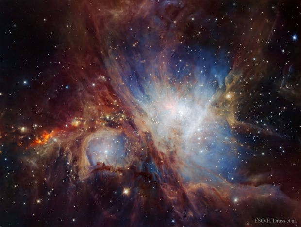 The Orion Nebula in Infrared