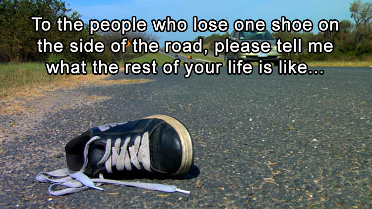 shoe-on-the-road